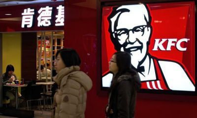 Bird flu scare make KFC sales fall low in China