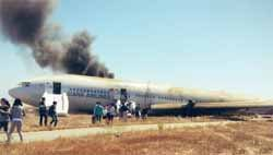 Boeing 777 that crashed at San Francisco airport