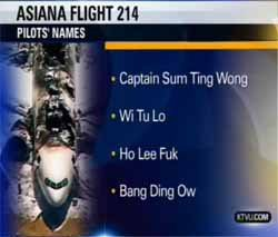 NTSB and KTVU Apologize for Offensive Names