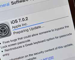 Apple Inc Rolls Out iOS 7.0.2 to Fix Lock-Screen Problems