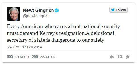 Newt Gingrich Tweet