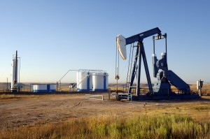 Oil Derrick + Storage tanks