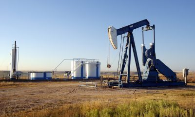Oil Derrick + Storage tanks