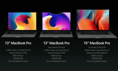 macbook pros announced 2016