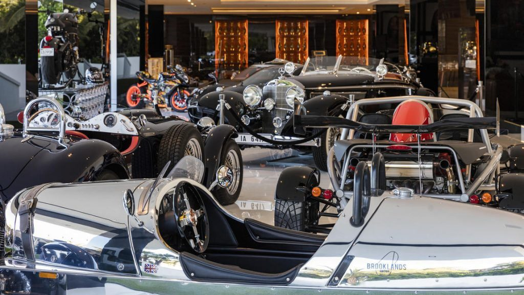 A car and motorcycle collection valued at $30 million is included in the $250-million asking price.