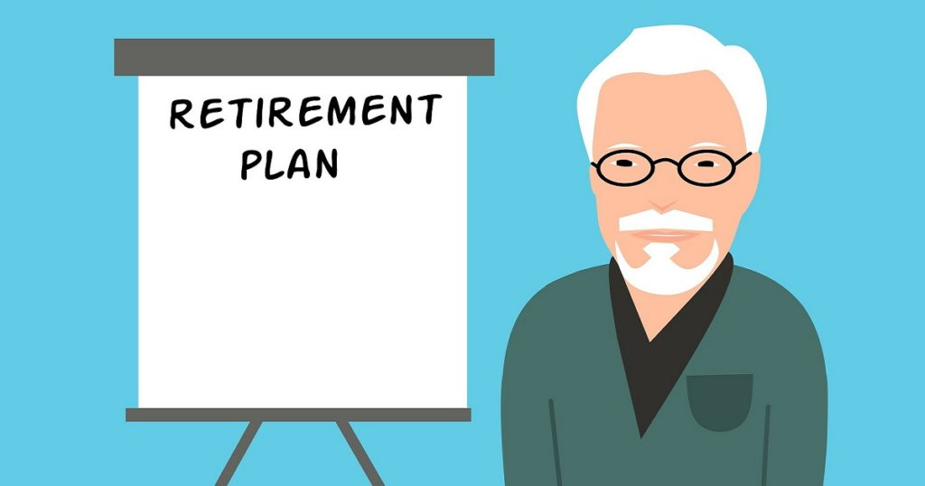 Retirement - Man with White Board