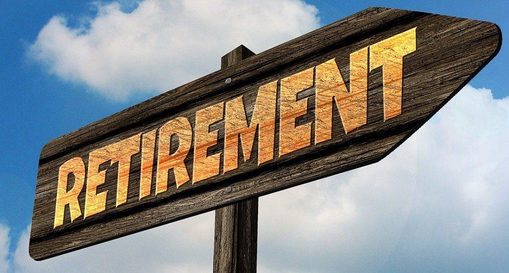 Retirement - Directional Arrow
